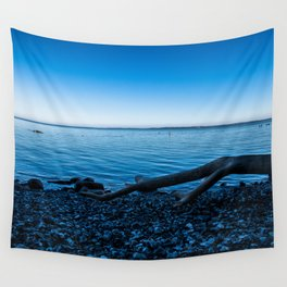 calm blue sea Wall Tapestry