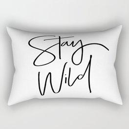 Stay Wild Rectangular Pillow