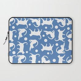 Cats Stretching: CHIN BLUE Laptop Sleeve