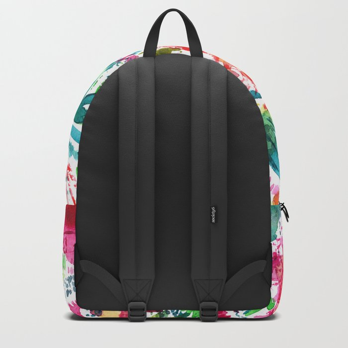 Spring vibes || watercolor Backpack