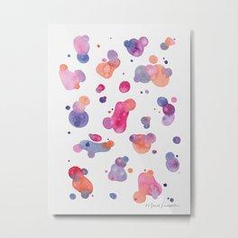 Spots and Drops Metal Print