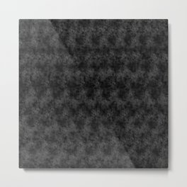 Charcoal Pixel Design Metal Print