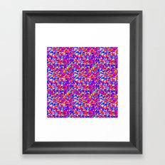 Colorful Dots Mayhem Framed Art Print