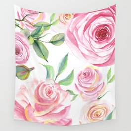 Roses Water Collage Wall Tapestry