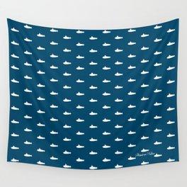 Tiny Subs - Navy Wall Tapestry