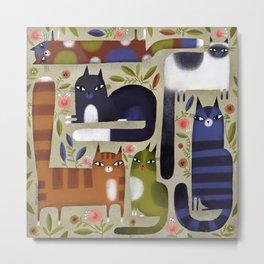 FIELD OF CATS Metal Print