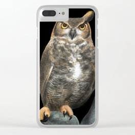 Superb Owl Sunday Clear iPhone Case