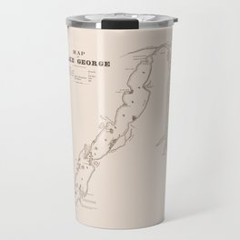 1853 Map of Lake George (sepia) Travel Mug