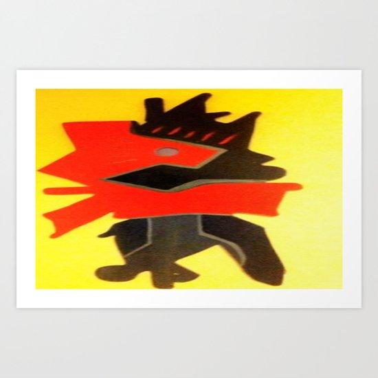 inner battle Art Print