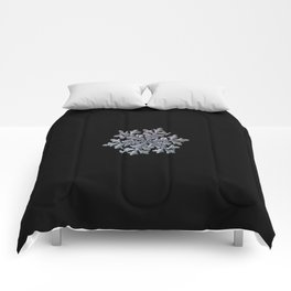 Real snowflake - Hyperion black Comforters