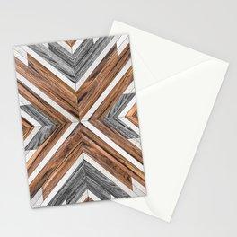 Urban Tribal Pattern No.4 - Wood Stationery Cards