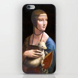 Leonardo da Vinci Lady with an Ermine iPhone Skin
