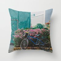 singapore Throw Pillows featuring Singapore by Tosha Lobsinger is my Photographer