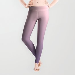 Gradient Millennial Pink Ultra Violet Pattern | Trendy color of the year 2018 Leggings
