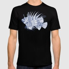 fish mirage blue Black MEDIUM Mens Fitted Tee