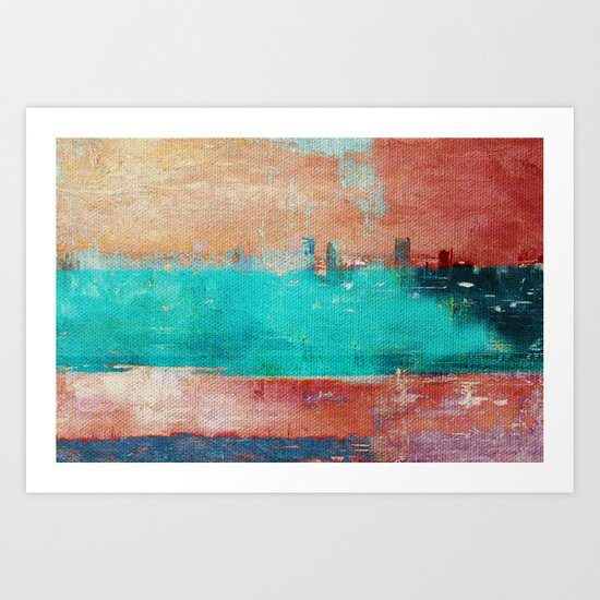Autumn Town Art Print