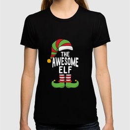 Funny Christmas Matching - The Awesome Elf T-shirt