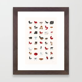 Mid-Century Modern Furniture (Neutral) Framed Art Print