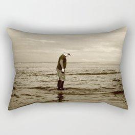 A Boy and The Sea Rectangular Pillow