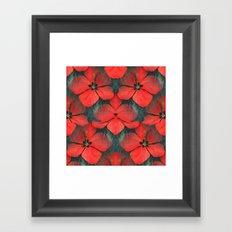 Tropical Red Christmas Hibiscus Design Framed Art Print