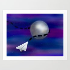 Cosmic Paper Flight Art Print