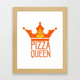 Pizza Queen With Crown Gift For Pizza Lover Framed Art Print