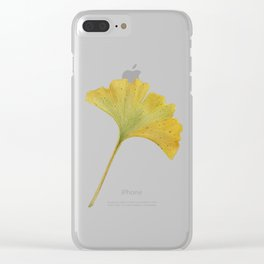 watercolour ginkgo Clear iPhone Case