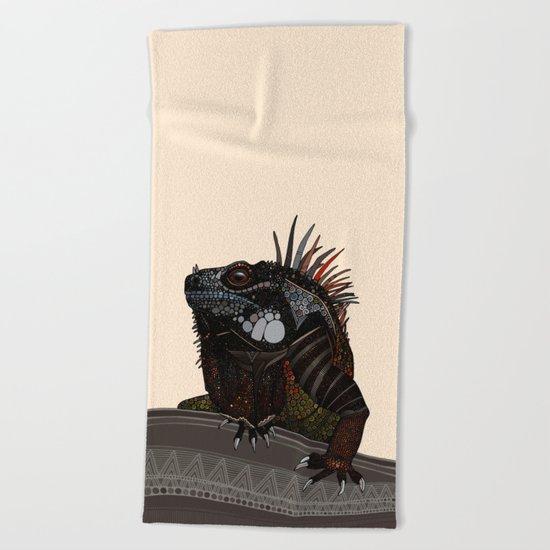 iguana ecru Beach Towel