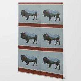 Wyoming Bison Flag Wallpaper