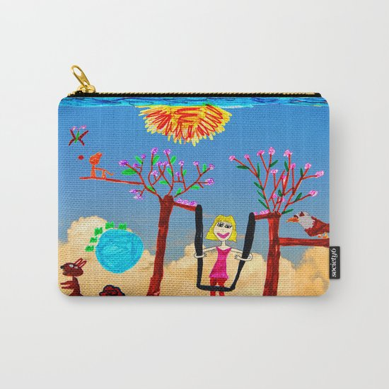 Dreaming | Playground | Up to the Clouds Carry-All Pouch
