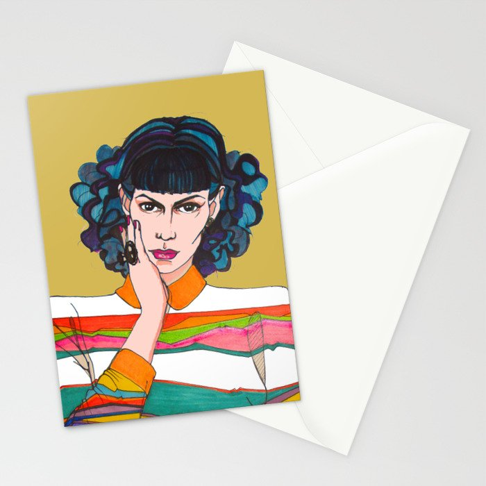 What is she thinking? Stationery Cards
