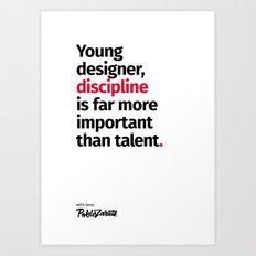 Young Designer — Advice #10 Art Print