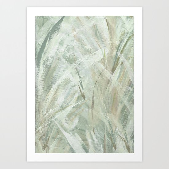 abstract brush-soothe the mood Art Print
