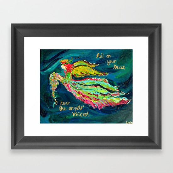Christmas Angel Framed Art Print