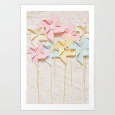 pinwheels Art Print