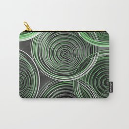 Black, white and green spiraled coils Carry-All Pouch