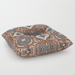 Gray Brown Taupe Beige Tan Black Hip Orient Bali Art Floor Pillow