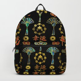 Colorful Lucky Chinese Symbols  Pattern Backpack