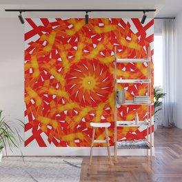 The geometric sun Wall Mural