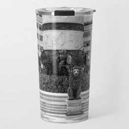 The great fountain at the Macedonia Square in Skopje Travel Mug