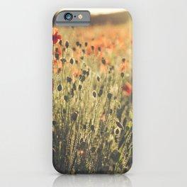 Wildflower Poppy Fields. iPhone Case