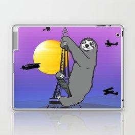 Sloth Claim The Eiffel Tower Laptop & iPad Skin