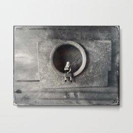 House Disaster Art -  A Portrait Metal Print