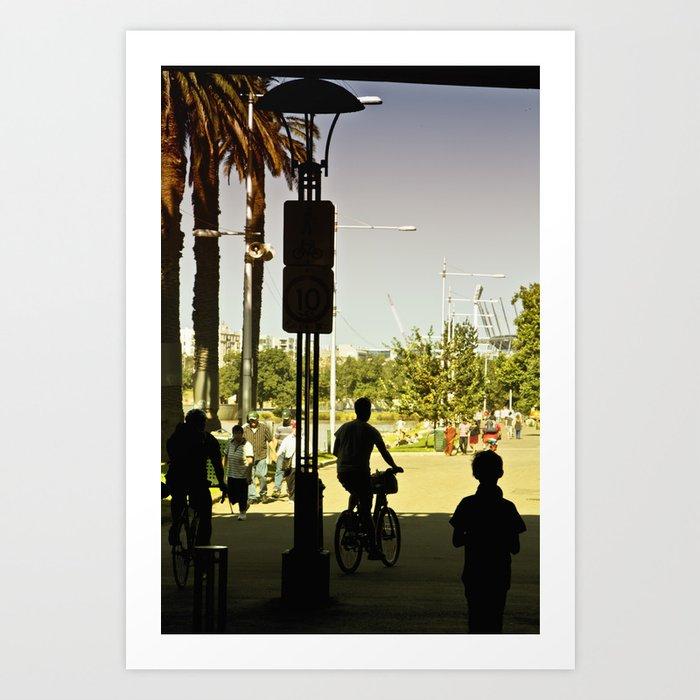 A summer-rising life (Princes Bridge, 2011) Art Print