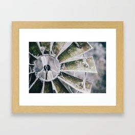 Windmill in Frost Framed Art Print