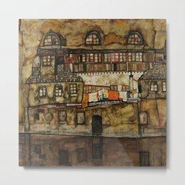 "Egon Schiele ""House Wall on the River"" Metal Print"