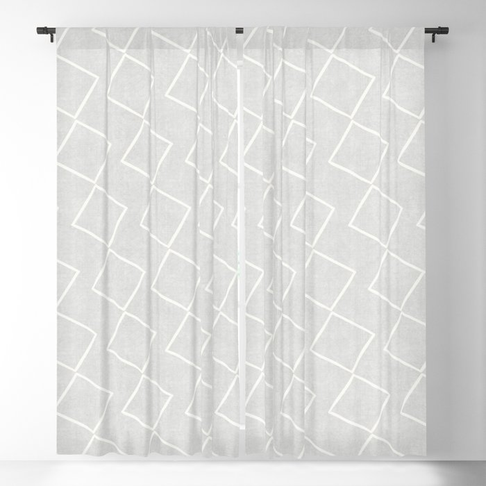 Tilting Diamonds in Grey Blackout Curtain