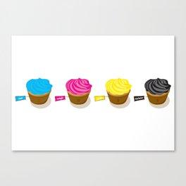 CMYK cupcakes Canvas Print