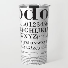 Bodoni (Black) Travel Mug