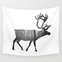Moose Silhouette | Forest Photography Wall Tapestry